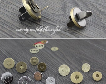 10set 14mm 18mm Bronze Thin coin Magnetic Snaps Button (strongly magnetic)  Plated Metal Closures Button purse making hardware