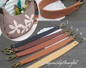 Purse handle shoulder bag handle purse strap bag leather strap purse leather strap bag handle 1 pc leather with bronze clasp handle