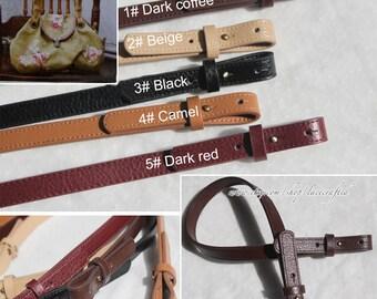 1pc 23''inch  leather strap  purse strap bag leather straps 1.8cm width purse handle bag handles