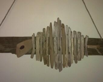 Wall Hanging Driftwood Fish