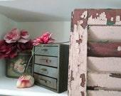 Industrial Chic Shabby Metal Storage Cabinet, Vintage