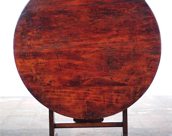 French Country Original 19th century Tilting Wine Tasting Table -NICE!!