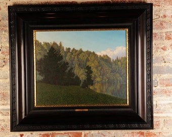 "Walter Damerius (1883)'Green Trees""Fabulous old German Landscape Oil Painting"