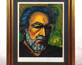 "Antony Quinn ""Zorba Self Portrait""original 1st Ed Serigraph Pencil Signed AQ 89"