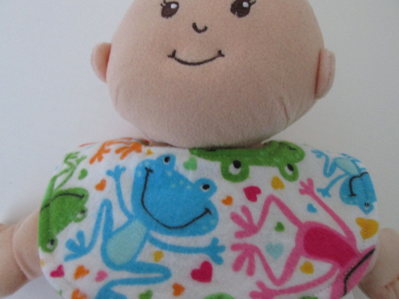 Reversible Doll Bib Fits Baby Stella Doll Rosy Cheeks 14