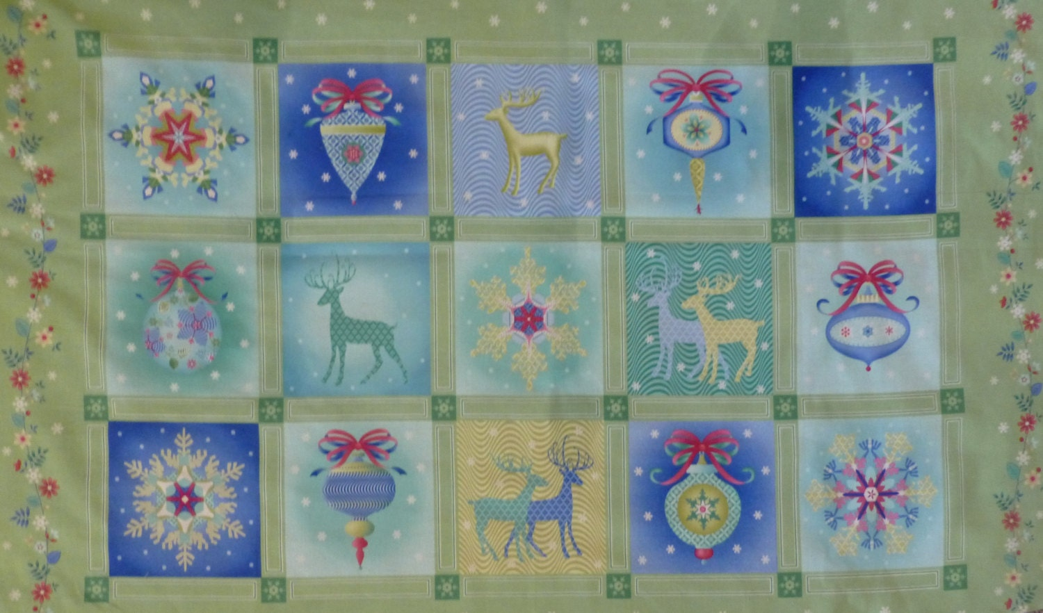 Christmas Home Decor Fabric Photograph Cotton Fabric Chri
