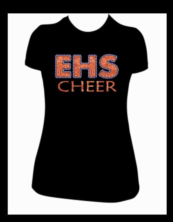 custom cheer shirt ehs glitter vinyl lettering by spiritloft With custom vinyl lettering for clothing