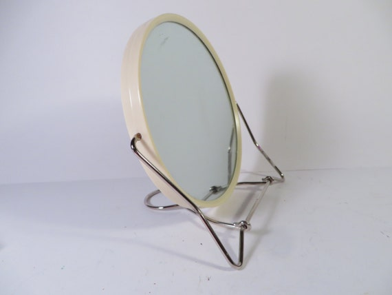 Vintage vanity mirror small standing vanity by for Small stand up mirror
