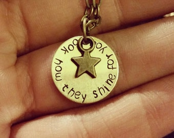 Look How They Shine For You Necklace - Coldplay Necklace - Star Necklace