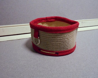 Fire Hose Utility Holder, 2' Red Office Desk Organizer, Firefighter Desk Accessory, Office Decor, Utility Cup, Firefighter Gift