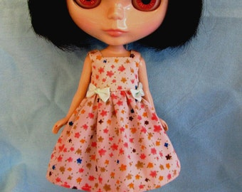 Blythe Doll Outfit Flower Print Dress