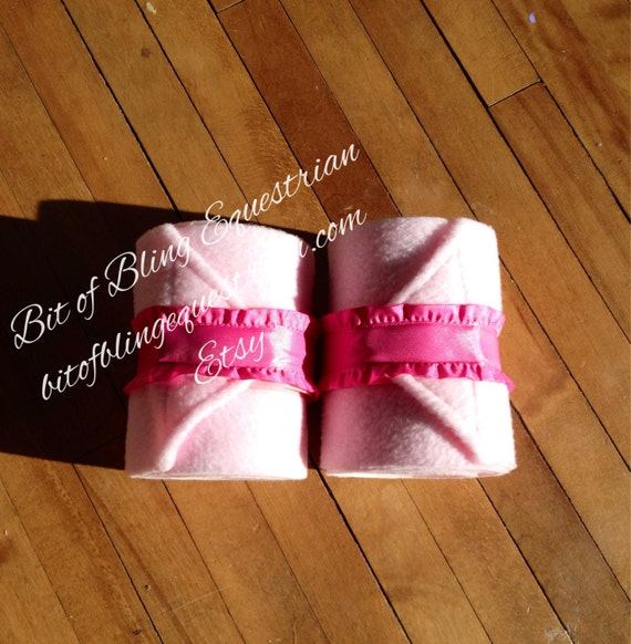 2 Ruffled Polo Wraps - Pink or Teal