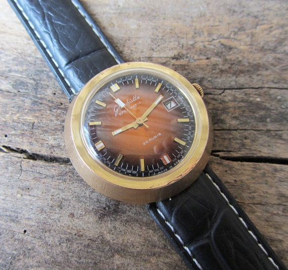 Rare German Men's Watch Glashutte Automatic 26 By TedDiscovery