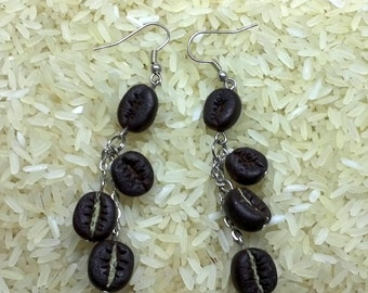 coffe bakery earrings,food jewelry earring,coffe,jewelry handmade,jewelry earrings whis coffe,cookies,jewelry coffee beans