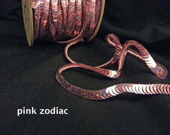 pink zodiac (hologram) sequin trim--non-stretch and stretch