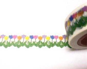 Row of  Tulips Washi Tape