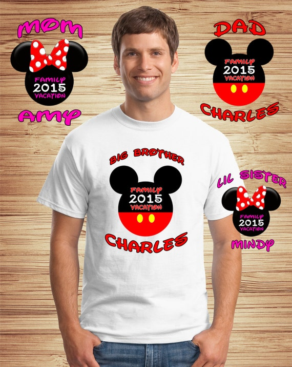 Personalized Disney Vacation Tshirts 8 PACK - Walt Disney World Vacation shirts tees t