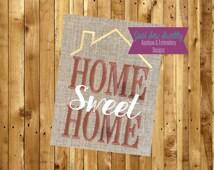 Home Sweet Home Applique Design - Embroidery Machine Pattern Garden Flag Housewarming