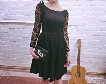 Gorgeous early 1960's black lace dress