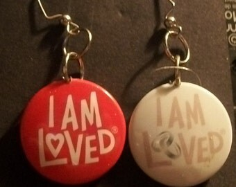 """Earring """" I AM LOVED"""" in English"""