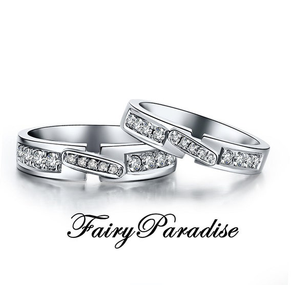 Items similar to Couple Rings, Couple Ring Set, Promise Rings For Couples, His and Hers Matching ...