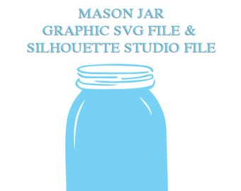 Mason Jar File for Cutting Machines | SVG and Silhouette Studio (DXF)