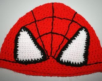 Hand Crocheted Spiderman Hat