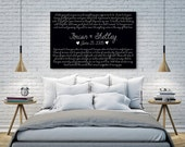 Deluxe Canvas UPGRADE, Wedding Vows, Any Canvas in the Shop