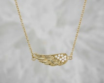 Sterling Silver Sidways Angel Wing