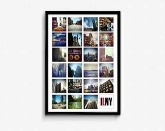 I Love New York A3 fine art poster print