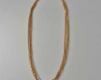 Pretty 14K Necklace Vintage Gold Necklace Gold Chain Handmade Necklace Designer Necklace 1950s 1960s 1970s Necklace Retro Neclace Estate