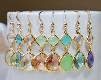 Diamond Teardrop Earrings