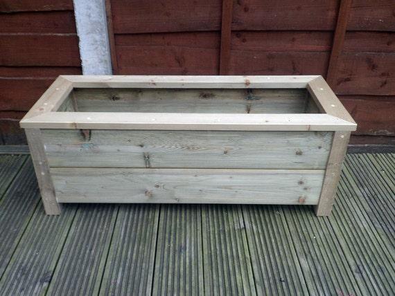 items similar to new handmade wooden planter trough garden. Black Bedroom Furniture Sets. Home Design Ideas