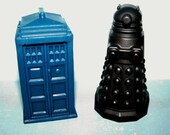 Fun Soap! Doctor Who Tardis and Dalek Soaps in Blue and Black* The scent is full of Ozone and Citrus!