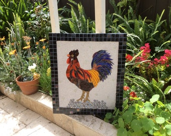 Stunning Rooster Mosaic
