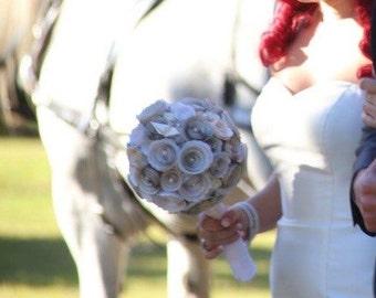 Origami paper flower bridal bouquet