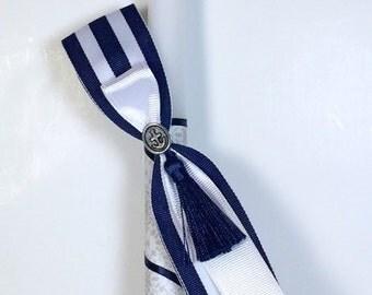 Navy Stripe - Greek Easter Candle (Lambatha)
