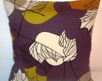 "Sanderson MAPLE fabric pillow cover, cushion cover, 16"" x 16"" (41cm x 41cm)"