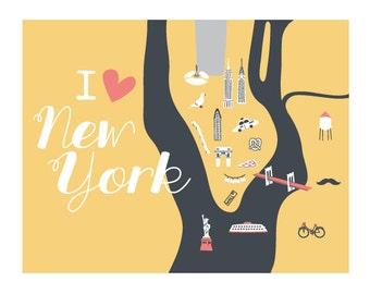 i heart new york print
