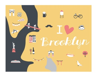 i heart brooklyn print