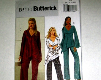 148) Butterick 5151 Misses Size 8 10 12 14 Pullover Tunic and Pants Uncut Pattern