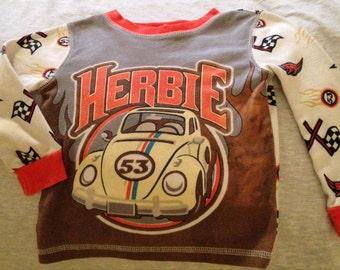 Disney Herbie the Famous Volkswagen Pajama Top
