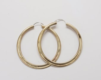 Large Brass Hoops