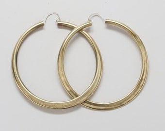 Extra Large Brass Hoops