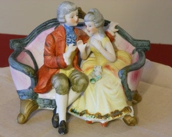 Royal Crown Figurines Couple on Love Seat