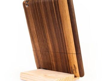 Wooden iPad case - dark walnut