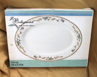 Bellegarden Porcelain China By Citation Oval Serving Platter 9 1/2 by 12 1/2 inches