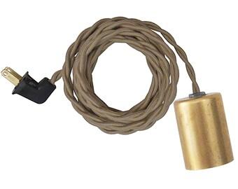 GOLD CASE LAMP w/ keyless socket