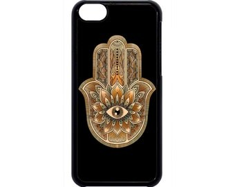 Hamsa Evil Eye Guard Hand Henna Case Cover for iPhone 4s 5 5s 5c 6 6s 6Plus Black  iPod Touch case
