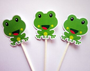 Frog Cupcake Toppers